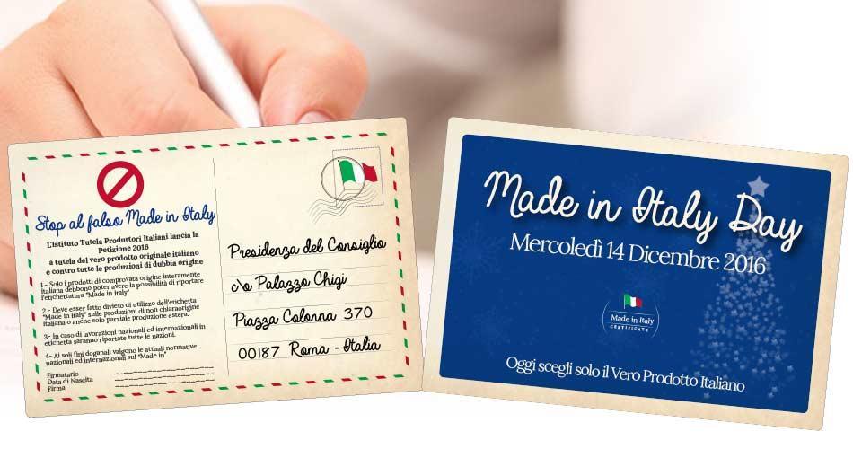 STOP AL FALSO MADE IN ITALY  - Petizione 14 Dicembre - Made in Italy Day