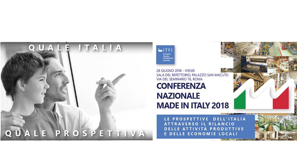 Conferenza nazionale Made in Italy 2018